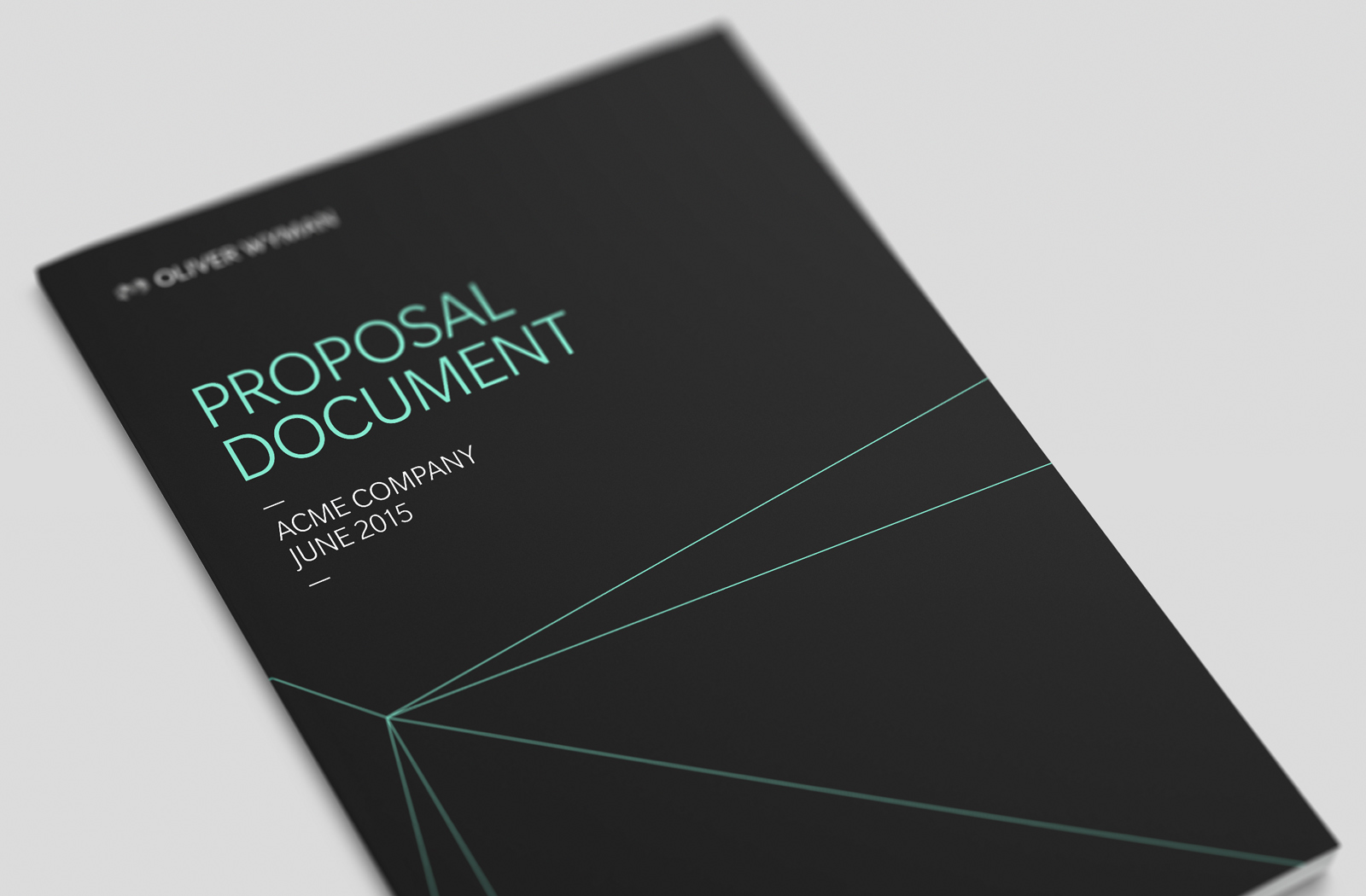 Oliver Wyman Proposals Dangar Graphic Design Art